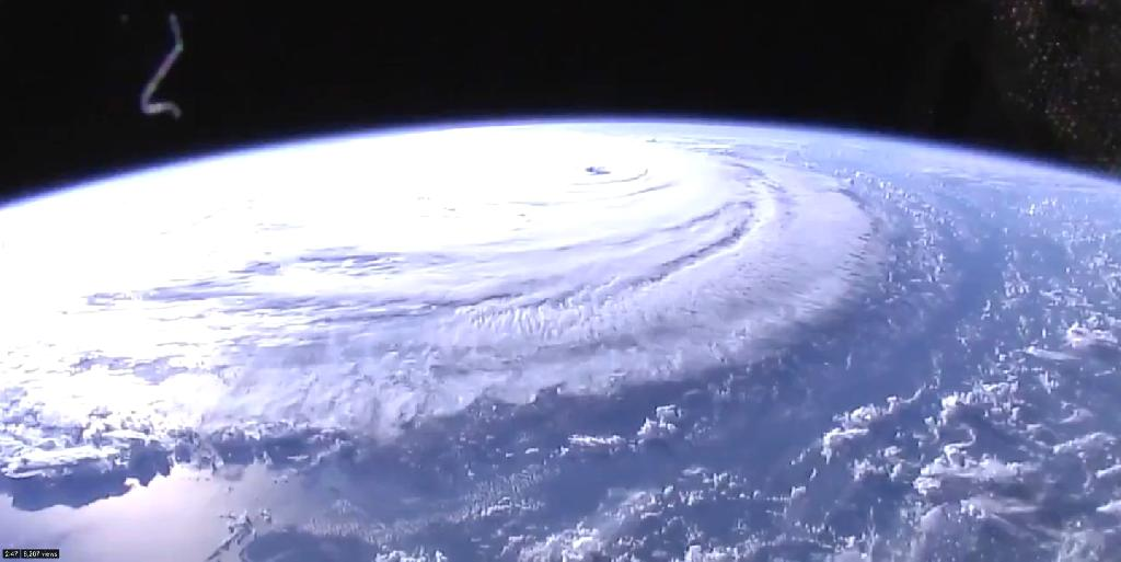 Here's the view from the International Space Station.