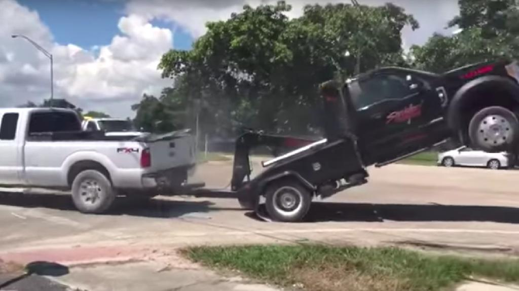 A Florida man took extraordinary steps to prevent his pickup from being