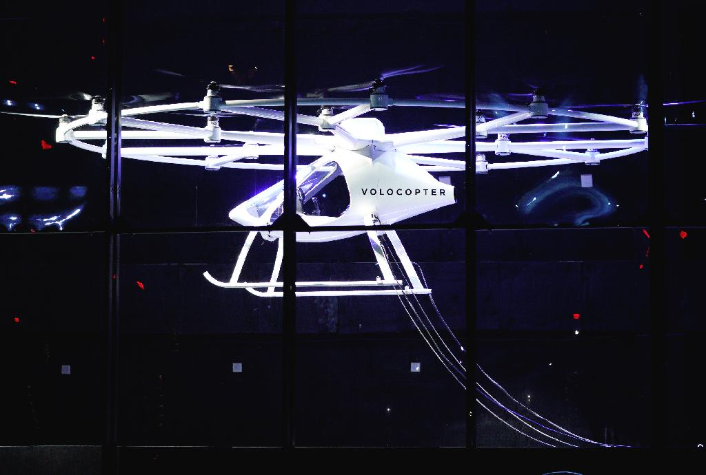Intel is betting that Volocopter 2X will be one of the first passenger-carrying drones to operate in the U.S. A prototype of the pilotless two-seat helicopter-like drone was shown off at CES 2018 in Las Vegas.