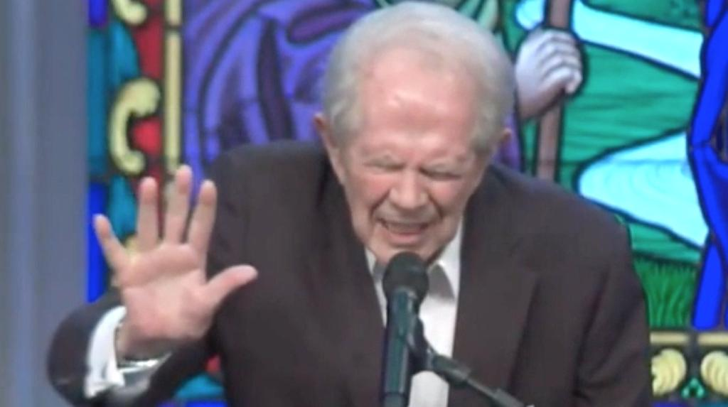 Televangelist Pat Robertson broke out a prayer that sounded more like a