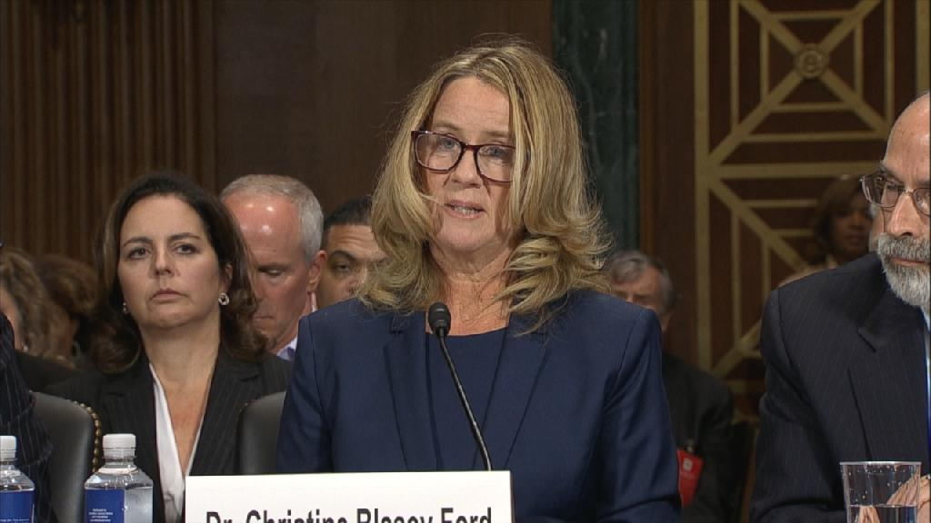 Christine Blasey Ford said that she tried to yell for help while being groped by Brett Kavanaugh.