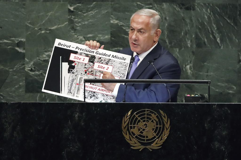 """UNITED NATIONS (AP) — Israeli Prime Minister Benjamin Netanyahu accused Iran on Thursday of keeping a """"secret atomic warehouse"""" just outside its capital, despite the 2015 deal with world powers that was meant to keep it from obtaining nuclear weapons. Hours later, Iran dismissed the allegation."""