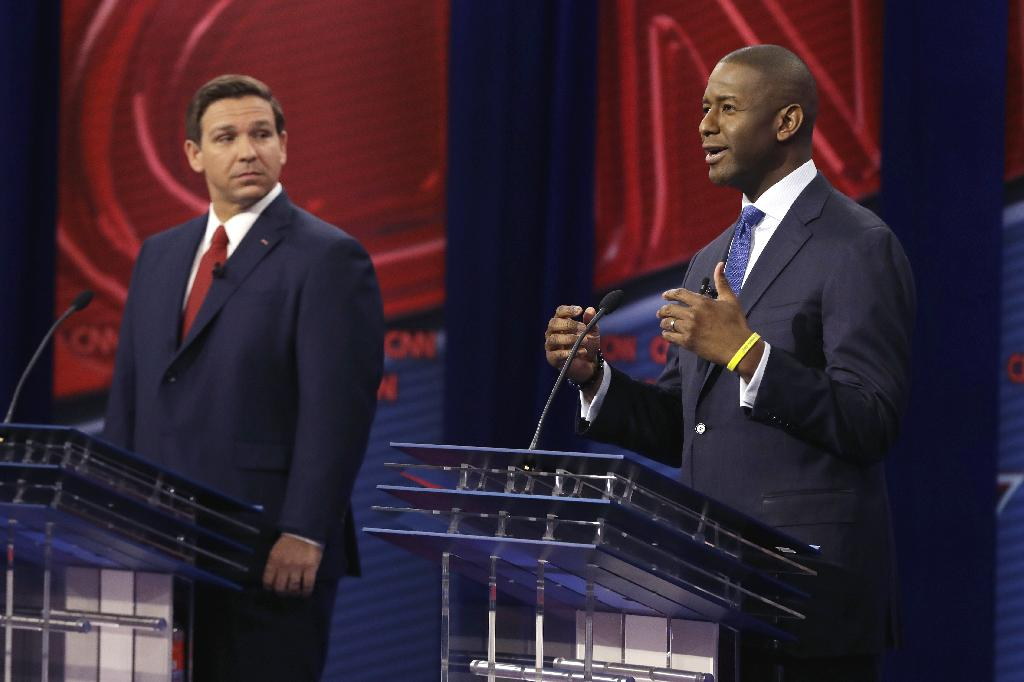 The two candidates in the governor's race in Florida are at odds over global warming.