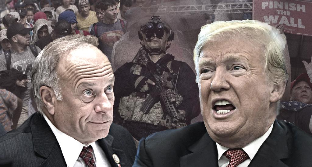 Iowa Rep. Steve King and other Republicans have put a caravan of Central American migrants in the spotlight ahead of the midterm elections, and some are fueling conspiracy theories about who is backing the migrants.