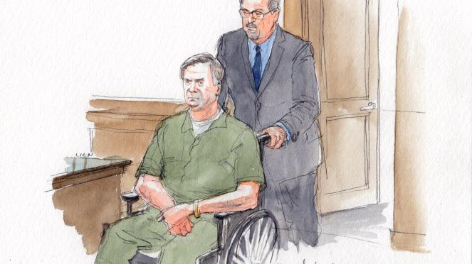 Former Trump campaign chairman Paul Manafort appeared in court in a wheelchair