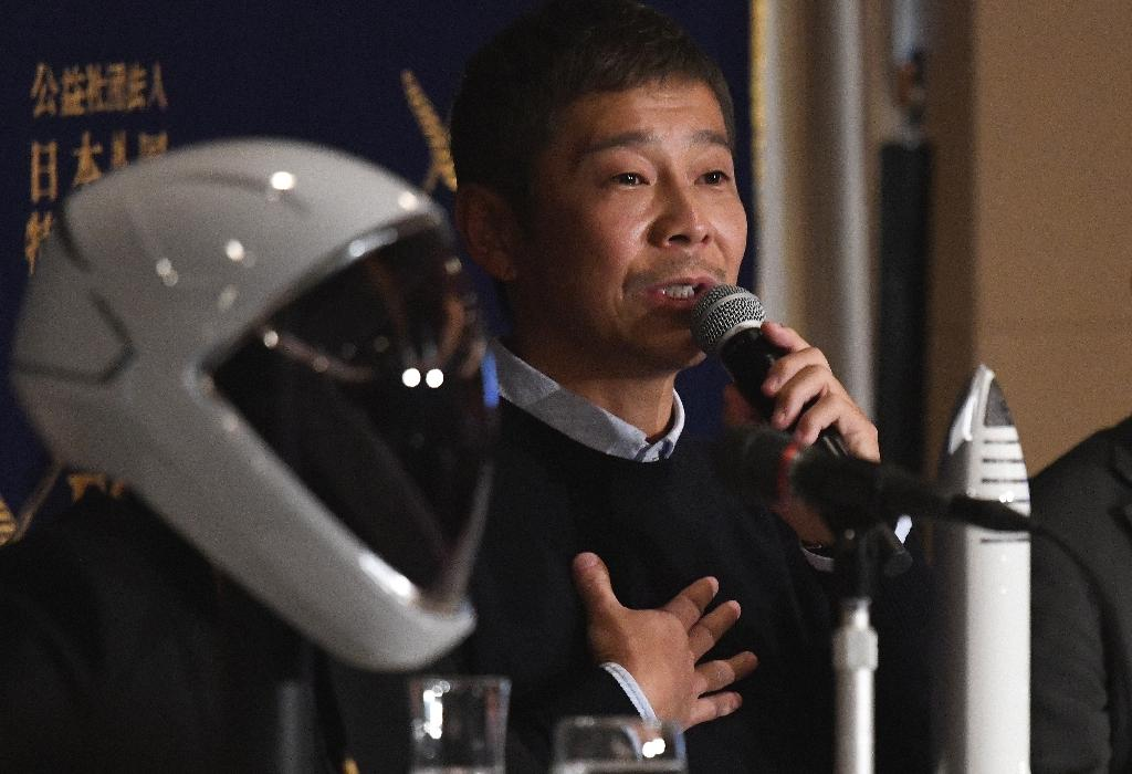 Billionaire Japanese tycoon and future space tourist Yusaku Maezawa's training to go the moon should not be too tricky, he joked Tuesday, adding that he planned to use free time from his six-hour work day to squeeze it in.  The 42-year-old Maezawa paid an undisclosed sum for a ticket on fellow tycoon Elon Musk's SpaceX rocket around the moon as early as 2023 and the passionate art collector also plans to take around half a dozen artists with him on the trip.  Asked how he could fit astronaut training around his already hectic schedule, he said he adhered to his own company policy of working a six-hour day and devoting the rest of the time to personal projects.