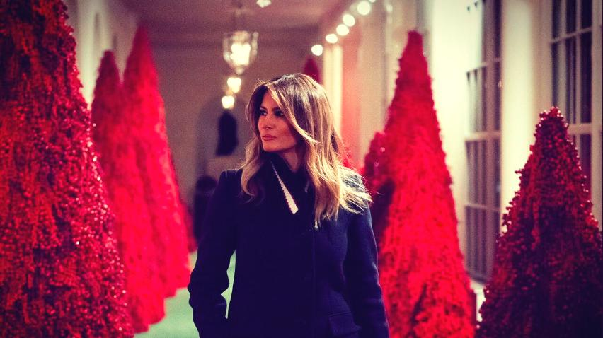 Although Melania Trump is getting criticized for putting red Christmas trees