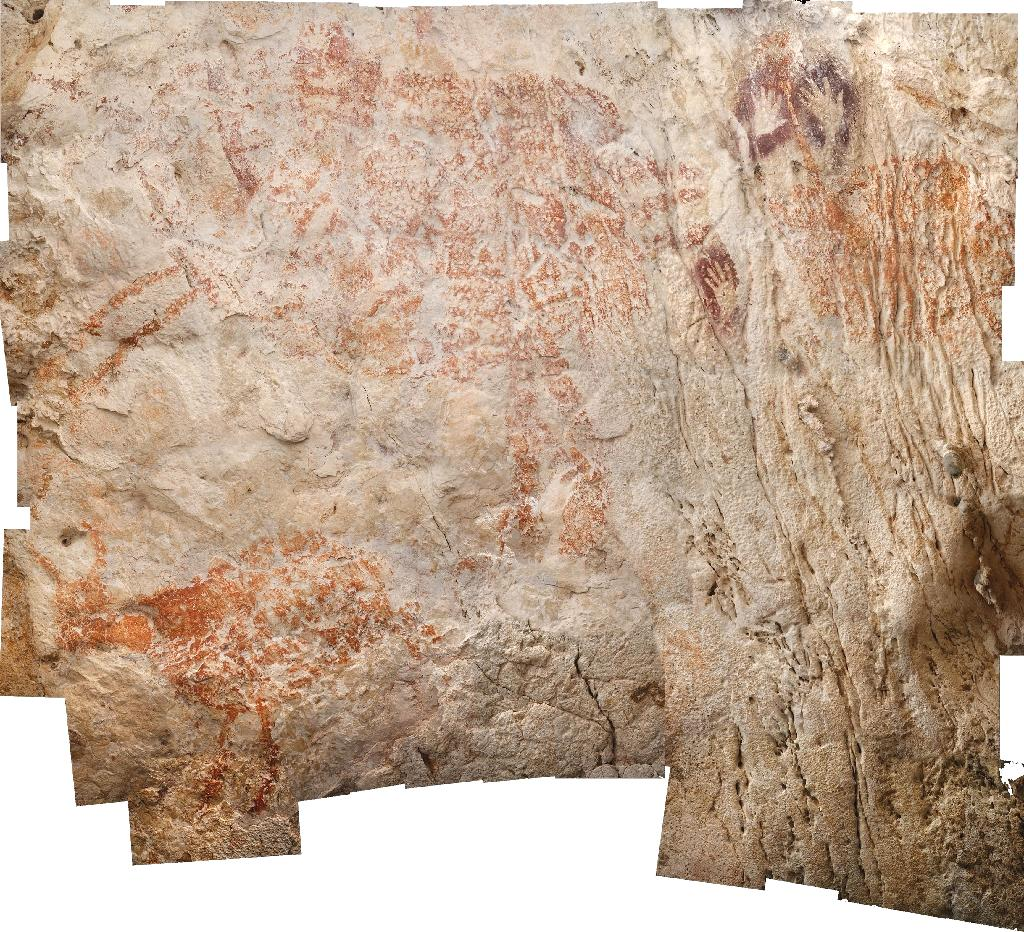 A painting of an animal in an Indonesian cave dates from at least 40,000 years ago, making it the world's oldest piece of figurative art, new research has shown.  The painting in Borneo, possibly depicting a native type of wild cattle, is among thousands of artworks discovered decades ago in the remote region.  The discovery adds to a growing body of evidence that cave painting did not emerge only in Europe, as was once thought.