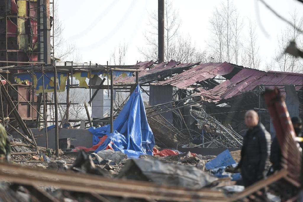 An explosion outside a chemical plant in northeastern China early Wednesday killed at least 22 people and destroyed scores of vehicles, in the latest challenge to efforts to boost industrial safety in the world's second-largest economy.