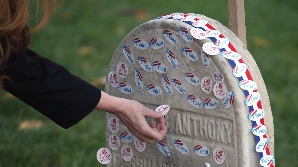 After casting their ballots in the midterm elections on Tuesday, women flocked