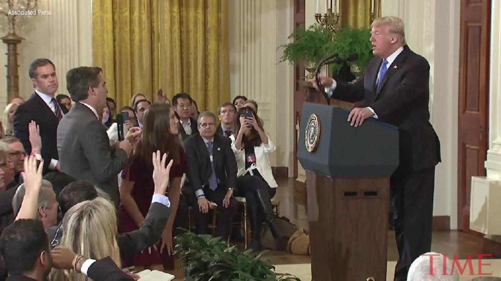 President Donald Trump engaged in one of his most direct confrontations with a reporter