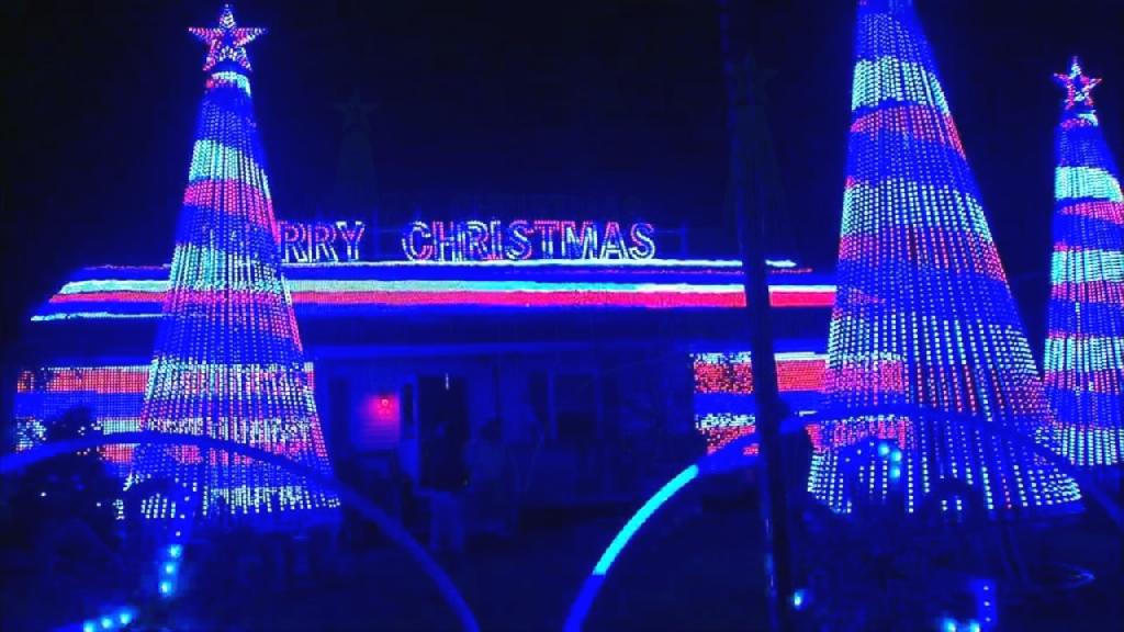 Thomas Apruzzi, of Old Bridge Township, N.J., is refusing to pay thousands of dollars a night for police security at his massive Christmas light display after complaints from neighbors.