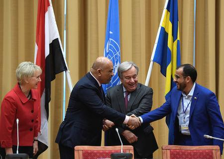 At the close of a week of talks in Sweden, U.N. Secretary-General Antonio Guterres said a framework for political negotiations would be discussed at the next round of talks at the end of January between the Iranian-aligned Houthis and the Saudi-backed government of President Abd-Rabbu Mansour Hadi.  Western nations, some of which supply arms and intelligence to the Saudi-led coalition that intervened in Yemen in 2015, had pressed the two sides to agree confidence-building steps to pave the way for a wider truce and a political process to end the war, which has killed tens of thousands of people.  The conflict has pushed Yemen, the poorest country on the Arabian Peninsula, to the verge of famine.