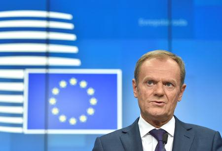 By Gabriela Baczynska and Jan Strupczewski BRUSSELS (Reuters) - European Council President Donald Tusk said on Friday he had no mandate to reopen Brexit negotiations with Britain, while the head of the bloc's executive, Jean-Claude Juncker, said he