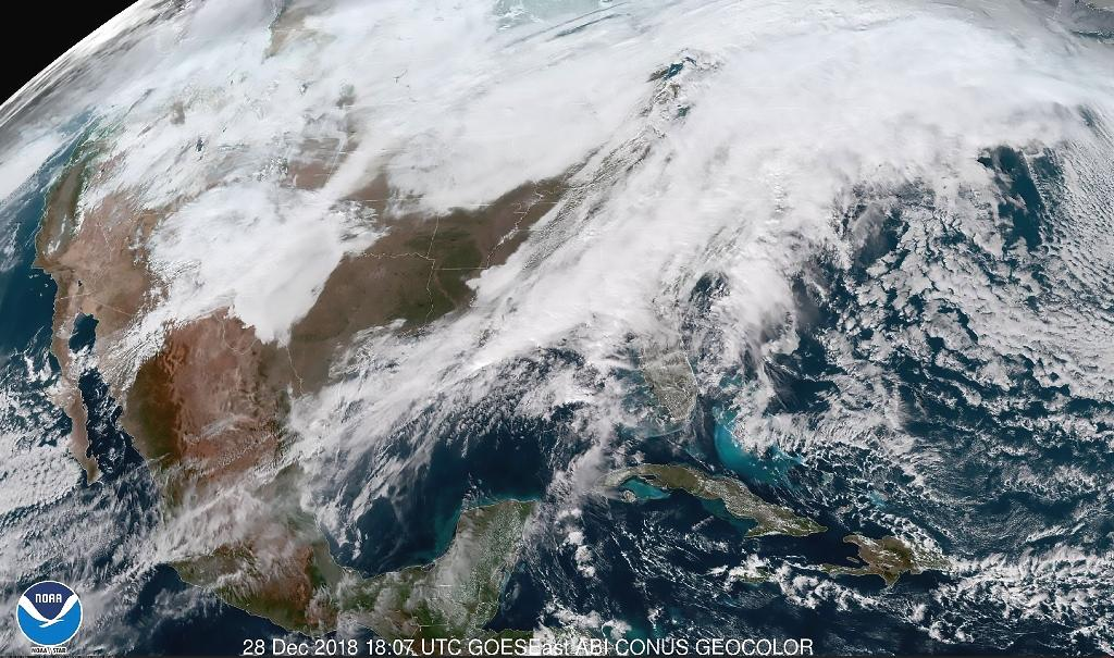 Parts of the United States were digging out Saturday from winter storms that media reports said led to at least seven deaths, while warmer regions braced for potential flooding during the New Year's travel period.  As storm clouds moved east, they were set to bring heavy rain and probably flooding to the Gulf Coast, and both rain and freezing rain to New England.  Flight tracker FlightAware reported more than 129 flight cancellations and 1,006 delays Saturday -- down from more than 500 cancelations and 5,700 delays on Friday -- as the winter storm hit north-central and Midwestern states with up to 12 inches (30 centimeters) of snow.