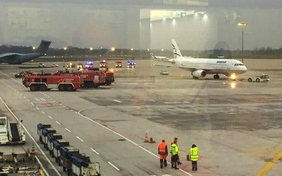 "The airport in the German city of Hannover was closed for over four hours after a car drove onto the runway. The unnamed driver has been arrested, and all flights were diverted from 3:30pm until 8pm. A police spokesman said a car with a Polish license plate managed to get on to the runway just after a plane had landed. ""Officers from the Federal Police were able to stop the car and overwhelm the man,"" said Hannover police, in a statement. The incident comes after the airport increased security over the Christmas period. Passengers inside Hannover airport wait for updates ""The security areas are currently vacated, currently there is no clearance,"" police said, immediately after the incident. ""Flight operations are currently suspended. The investigation continues."" Eurocontrol, the organisation responsible for air traffic management, said there were no flights due to land or take off until 8pm. ""Zero rate applied for arrivals and departures due to an ongoing security issue on the airfield,"" Eurocontrol said. ""Delays are high."" Flights resumed at 8:06pm, the airport announced on its website."