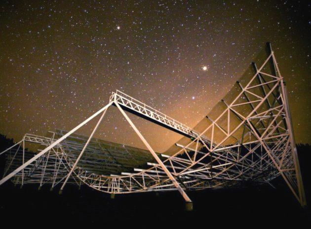 A new radio telescope in British Columbia's Okanagan Valley has detected 13 new sources of mysterious extragalactic phenomena known as fast radio bursts, including the second known source of repeated bursts. And the experiment is just barely getting started. The Canadian Hydrogen Intensity Mapping Experiment, or CHIME, picked up the radio signatures of the bursts over the course of three weeks in July and August, while the telescope was in its pre-commissioning phase and running at only a fraction of its design capacity. Fast radio bursts, also known as FRBs, are powerful spikes of radio emissions that emanate from galaxies… Read More