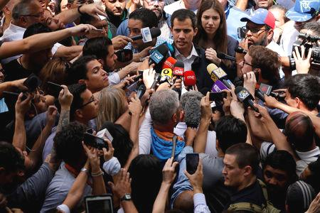 Countries around the world have recognized Guaido as Venezuela's rightful leader, and the United States vowed to starve Maduro's administration of oil revenue after he was sworn in Jan. 10 for a second term that was widely dubbed illegitimate.  Maduro says the United States is promoting a coup against him and promised to stay in office, backed by Russia and China, which have bankrolled his government and fought off efforts to have his government disavowed by the United Nations.  'We're doing well, very well, Venezuela!'  On Sunday, Israel and Australia joined countries backing the 35-year-old Guaido, and U.S. President Donald Trump said his government had accepted Venezuelan opposition figure Carlos Alfredo Vecchio as a diplomatic representative to the United States.