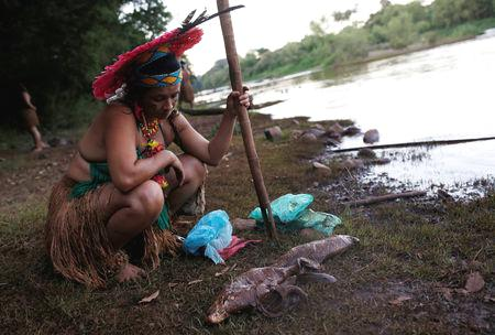 'On Thursday, I was here washing my clothes, bathing with my children, and now I can't even touch the river,' said Sot de Ionara Pataxo Hahahae, holding back tears.  'Our hearts are so sad knowing that nothing can be done.'  The Pataxo-Hahahae's plight comes as Brazil's current government, which took office earlier in January, has signaled it wants to cut mining regulations and shrink protections currently afforded to indigenous communities.  For critics, the  dam burst reveals the danger of both policies.