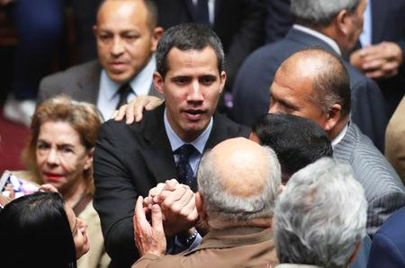 The fight to control Venezuela, which has the world's largest oil reserves, has intensified with new U.S. sanctions and legal moves that may bring the arrest of opposition leader and self-declared interim president Juan Guaido.  In an interview with Moscow's RIA news agency, Maduro, 56, facing the biggest challenge to his rule since replacing Hugo Chavez six years ago, said Trump had ordered neighboring Colombia to murder him.  'Donald Trump has without doubt given an order to kill me and has told the government of Colombia and the Colombian mafia to kill me,' Maduro said, reprising a constant accusation of his and Chavez's over the years.