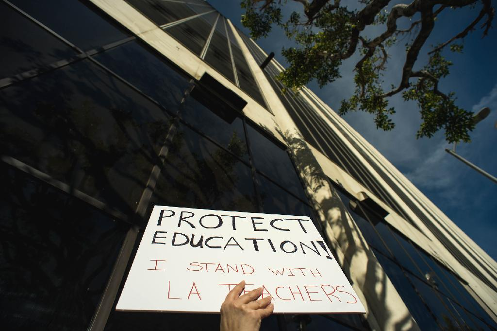 Los Angeles county school teachers are striking after failed negotiations to get smaller class sizes, higher pay, and increased funding.