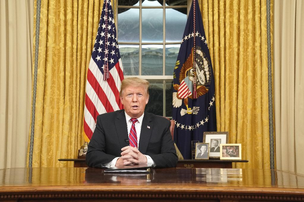 President Donald Trump gave his first address from the Oval Office to pitch his border wall to the American public. Read the transcript of his speech.