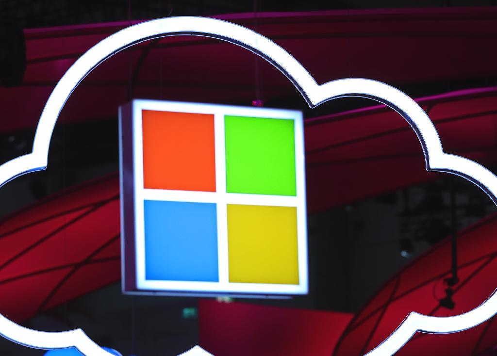 Adjusted profit in the period ended Dec. 31 rose to $8.58 billion, or $1.10 a share, compared with the $1.09 average estimate of analysts polled by Bloomberg.  Sales climbed 12 percent to $32.5 billion, Microsoft said Wednesday in a statement, matching predictions.  Microsoft's market value soared above its peers during the quarter as investors bet the company's cloud and enterprise-software business was more stable than other parts of the technology market.