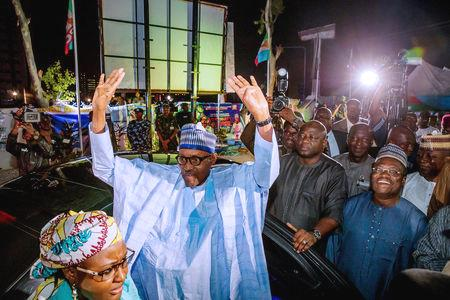 Buhari, a 76-year-old former military ruler took 56 percent of votes against 41 for his main rival, businessman and former vice president Atiku Abubakar of the People's Democratic Party.  The president garnered 15.2 million votes to Atiku's 11.3 million, on turnout of just 35.6 percent, the electoral commission said.  While Buhari urged supporters not to gloat or 'humiliate' the opposition, Atiku said the election was rigged.