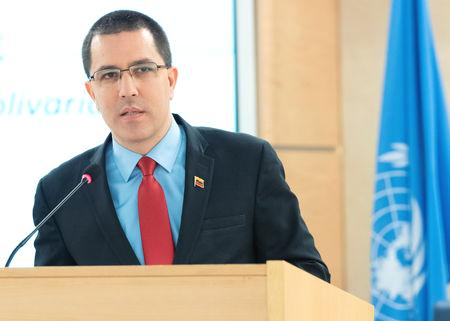 Jorge Arreaza, addressing the U.N. Human Rights Council,  suggested that Maduro and Trump meet to 'try to find common ground and explain their differences.' He also said his country had lost $30 billion in assets 'confiscated' since November 2017 under sanctions.  U.S. Vice President Mike Pence ruled out prospects of talks.  'The only thing to discuss with Maduro at this point is the time and date for his departure,' Pence said on Twitter.
