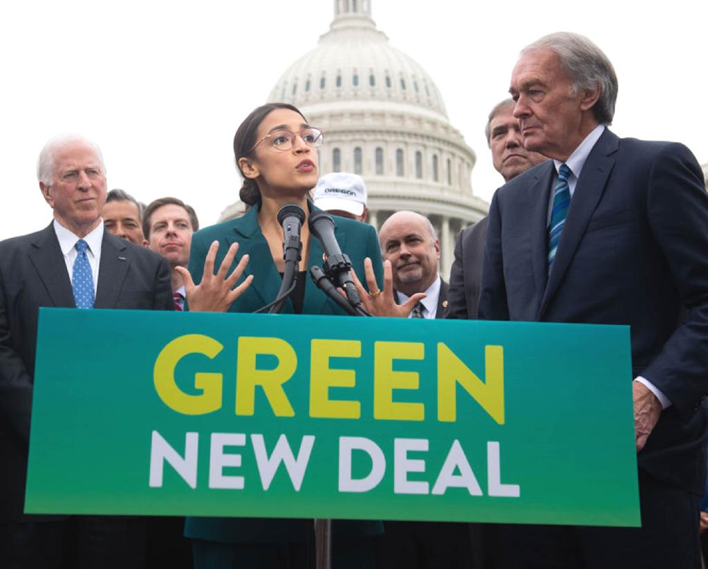 The Green New Deal, championed by politicians like Alexandria Ocasio-Cortez, is in some ways a product of the programs that inspired its name