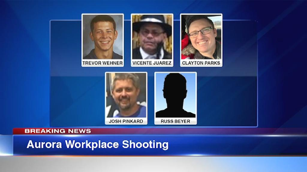 Five employees were fatally shot when a gunman opened fire Friday inside a sprawling manufacturing warehouse in Aurora, Illinois.
