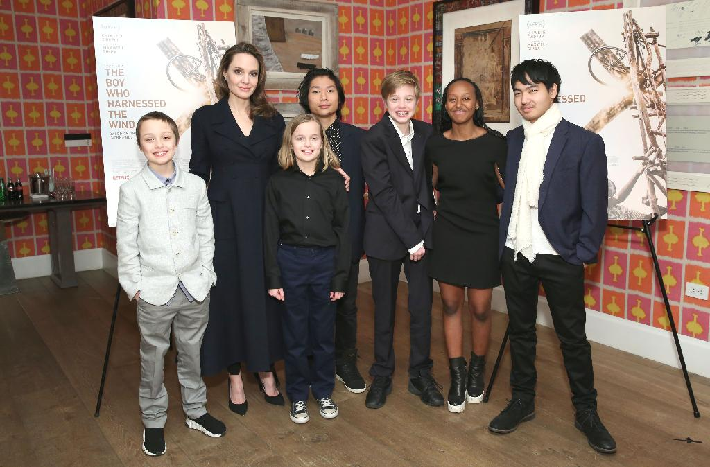 """Angelina Jolie brought all six of her children to a screening of""""The Boy Who Harnessed The Wind"""" in New York City Monday, marking their second family outing in weeks."""