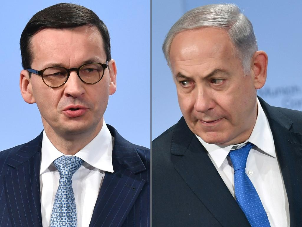 Polish Prime Minister Mateusz Morawiecki has cancelled a visit to Israel for a high-level summit, a government spokesperson told AFP on Sunday, after uproar in Poland over reported comments by Israeli leader Benjamin Netanyahu about the Poles and the Holocaust.  Netanyahu -- who was initially quoted in Haaretz newspaper as saying that 'The Poles collaborated with the Nazis' -- has been condemned in Poland for appearing to accuse all Polish people of cooperating with Germany during World War II.  Warsaw has long been at pains to point out that Poland, which was occupied by Nazi Germany, could not have and did not collaborate in the Holocaust although individual Poles may have done so.