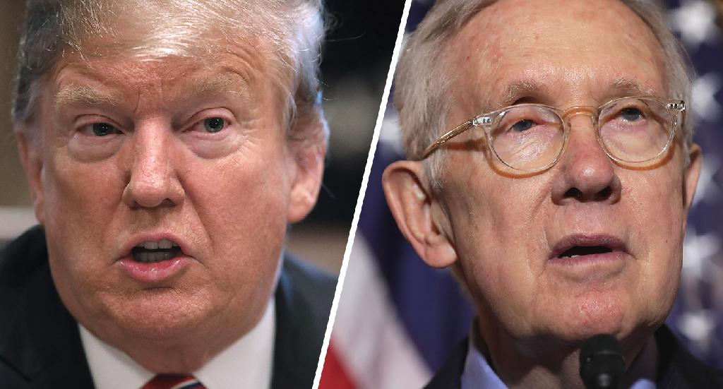President Trump on Monday lashed out at former Senate Majority Leader Harry Reid after the Nevada Democrat criticized him in a new interview with CNN.