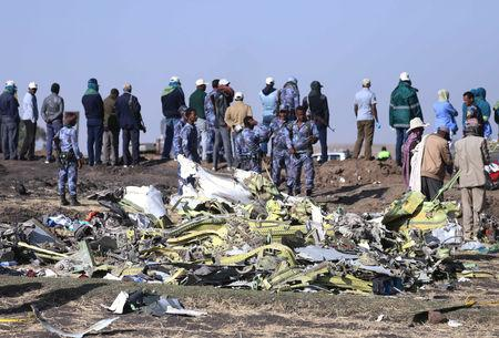 Half a dozen witnesses interviewed by Reuters in the farmland where the plane came down reported smoke billowing out behind, while four of them also described a loud sound.  'It was a loud rattling sound.  Malka Galato, 47, a barley and wheat farmer whose field the plane crashed in, also described smoke and sparks from the back.