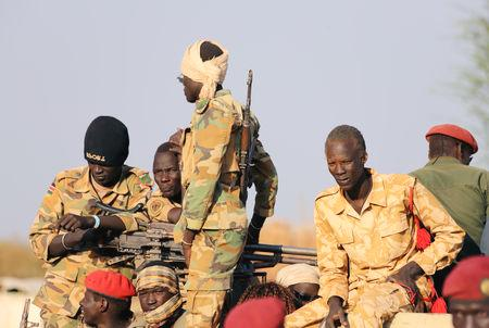 The accord signed in September by President Salva Kiir and rebel leader Riek Machar - the former vice president - has reduced fighting, but could break down over several disputes, the Brussels-based International Crisis Group said in a report.  'The peace agreement is stalling and is at risk of collapse if more political deals aren't struck,' said Alan Boswell, the group's South Sudan analyst.  There were also unresolved disputes over local boundaries - which some sides felt Kiir had redrawn to benefit his Dinka ethnic group, the report added.