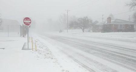 A blizzard of 'historic proportions' that hit the U.S. Rocky Mountain and Plains states this week was moving eastward on Thursday as it weakened, hurling hurricane-force winds, tornadoes and heavy rain on its way, weather officials said.  'While the storm has reached its lowest pressure and will gradually weaken over the next few days, strong winds will continue on the west side of the storm across portions of the Central and Northern Plains,' Bob Oravec, a meteorologist with the National Weather Service (NWS), said on Thursday in a weather advisory.  A day earlier, the NWS had described the blizzard - previously dubbed a 'bomb cyclone' by U.S. meteorologists for its quick, late season punch - as being of 'historic proportions' in a post on Twitter.