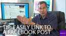 Yahoo's David Pogue has a sneaky way you can create a universal link to a Facebook item so that you can send or post to anyone.