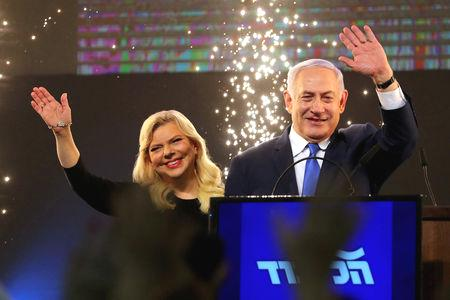 Netanyahu is heading toward a record fifth term in office confident of being able to put together a bloc of religious-rightist parties.  It would be a slim majority against an opposition that is likely to be led by the centrist-left Blue and White party, which won 35 seats.  In his victory speech, Netanyahu, 69, said he intends to form his new cabinet with right-wing and religious parties.