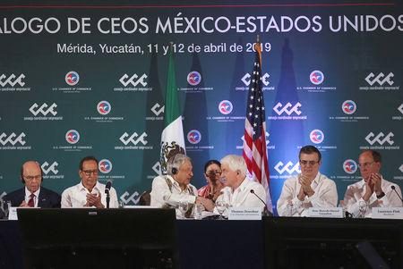 Mexican and U.S. business leaders on Friday pushed back against President Donald Trump's threats to close the U.S.-Mexico border and urged him to drop steel tariffs that have hindered the ratification of a trade deal brokered last year.  At a meeting in the eastern Mexican city of Merida attended by government officials from both countries, business lobbies united to call on Trump to drop his threats to disrupt border trade after days of hold-ups on the frontier.  Describing the U.S.-Mexico relationship as a top priority, U.S. Chamber of Commerce head Tom Donohue told a news conference the United States should exempt Mexico and Canada from steel and aluminum tariffs imposed by Trump last June before its Congress approves the deal struck to replace the North American Free Trade Agreement.
