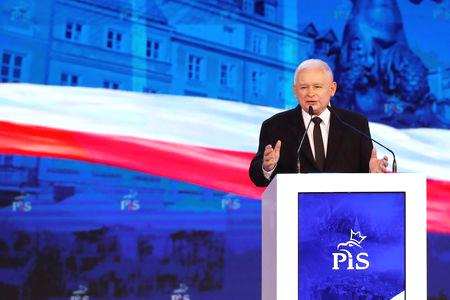 Poland's ruling Law and Justice party (PiS) says 'no' to the euro and believes Warsaw should only adopt the common currency when its economy is as big as Germany's, PiS leader Jaroslaw Kaczynski said on Saturday.  Kaczynski was speaking at a PiS convention in Lublin, eastern Poland, ahead of the European Union election in May, which is seen as a test for the party and its major opponents ahead of a general election in Poland later this year.