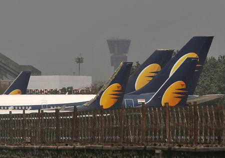 More than a thousand pilots of India's debt-laden Jet Airways will not fly from Monday as they have not been paid salaries for the past three months, the President of the National Aviators Guild said on Sunday.  Saddled with more than $1.2 billion of bank debt, the airline has been teetering for weeks and has yet to receive a loan of about $217 million from its lenders as part of a rescue deal agreed in late March.  'Pilots haven't been paid for the last three months,' Capt Karan Chopra told Reuters.