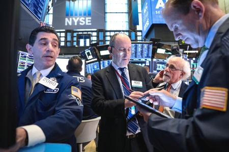 Wall Street edged lower on Monday, weighed down by financials as lackluster bank earnings put a damper on investor enthusiasm.  Goldman Sachs dipped 3.3% after the investment bank's first quarter revenue came in below analyst expectations.  Citigroup Inc posted higher-than-expected earnings as cost-cutting offset falling revenues.
