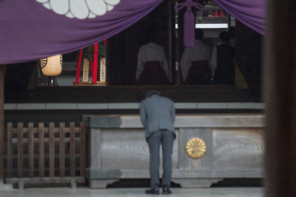 Japanese Prime Minister Shinzo Abe on Sunday sent a ritual offering to the controversial Yasukuni war shrine, seen by Asian neighbours as a symbol of Japan's militarist past.  The Tokyo shrine honours 2.5 million war dead but also top World War II criminals and has frequently been a source of sour relations with countries that suffered from Japan's military atrocities.  Abe last visited the shrine in December 2013 to mark his first year in power, sparking fury in Beijing and Seoul and earning a diplomatic rebuke from close ally the United States.