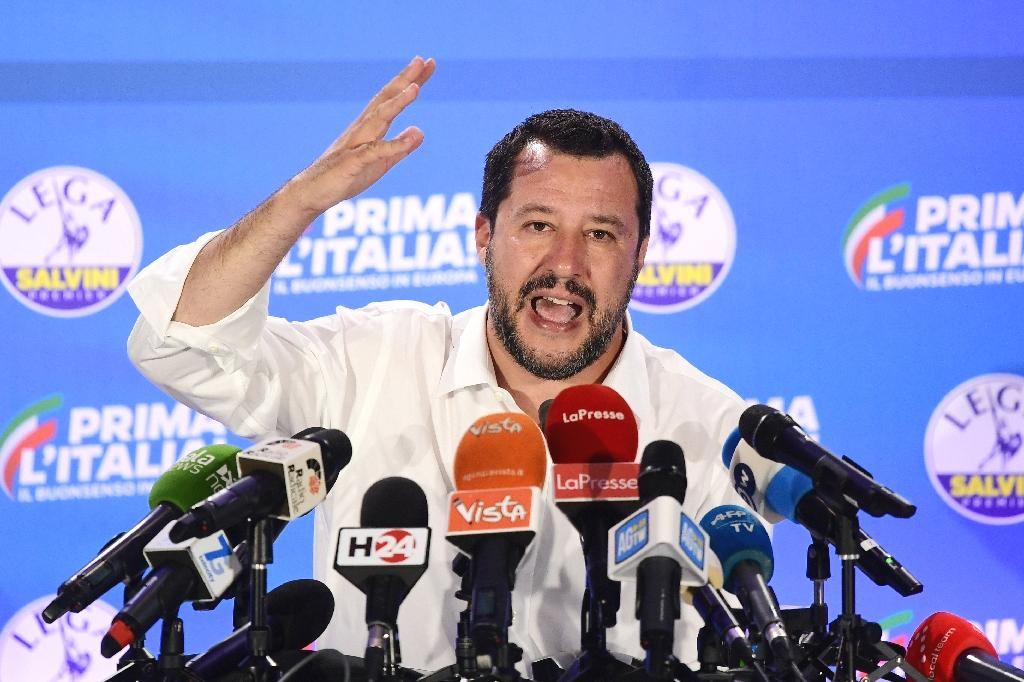 The populist Italian government is stepping up a crackdown against migrant ships and assaults on police with a tough new decree led by Interior Minister Matteo Salvini.  The 18-article decree brings in fines of up to 50,000 euros ($57,000) for the captain, owner and operator of a vessel 'entering Italian territorial waters without authorisation', Salvini told reporters Tuesday after a cabinet meeting.
