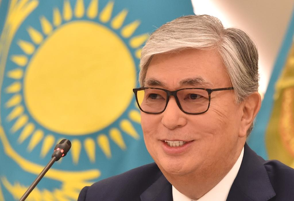 Tokayev, the hand-picked successor to longtime ruler Nursultan Nazarbayev, pledged that 'different opinions, united nation' would be the slogan of his presidency, during the ceremony in the capital Nur-Sultan.  Career diplomat Tokayev, 66, was shown kissing the state flag in a ceremony broadcast on state television that was presided over by 78-year-old Nazarbayev and marked in ceremonial pomp by the national anthem and artillery salutes.  'I solemnly swear to faithfully serve the people of Kazakhstan, strictly follow the Constitution and the laws of the Republic of Kazakhstan, guarantee the rights and freedoms of citizens (and) conscientiously fulfil the high duties entrusted to me,' Tokayev said as he took his presidential oath.