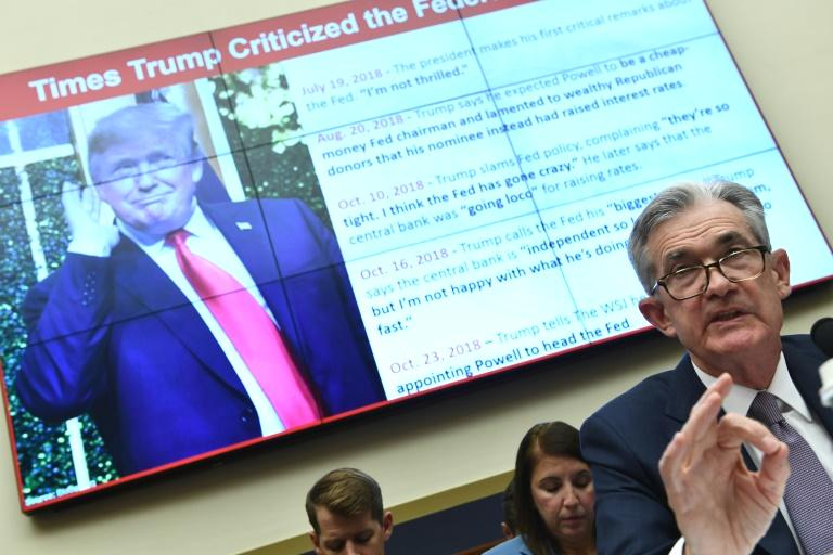 Federal Reserve Chair Jerome Powell on Wednesday left the door open to an interest rate cut this month, pointing to uncertainty about trade frictions and global growth.  Powell also was defiant in the face of a constant stream of criticism from President Donald Trump, saying the Fed pays no attention to commentary and saying he would not step down should Trump try to fire him.  In remarks welcomed by Wall Street, Powell said many central bankers believed the case for lower rates 'had strengthened' last month given the rising 'crosscurrents' in the economy.