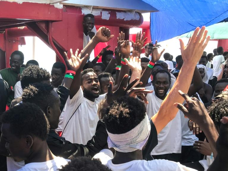 African migrants on board the Ocean Viking rescue ship howled with joy Friday as the news broke of an EU deal to take them in after a two-week standoff at sea.  Jay Berger, the MSF coordinator on board, had planned to spread the news quietly after food rations were distributed.  The Ocean Viking had been denied entry to dock by both Italy and Malta in the latest in a string of migrant boat standoffs.