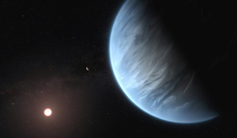 Water has been discovered for the first time in the atmosphere of an exoplanet with Earth-like temperatures that could support life as we know it, scientists revealed Wednesday.  Eight times the mass of Earth and twice as big, K2-18b orbits in its star's 'habitable zone' at a distance -- neither too far nor too close -- where water can exist in liquid form, they reported in the journal Nature Astronomy.  'This planet is the best candidate we have outside our solar system' in the search for signs of life, co-author Giovanna Tinetti, an astronomer at University College London, told AFP.