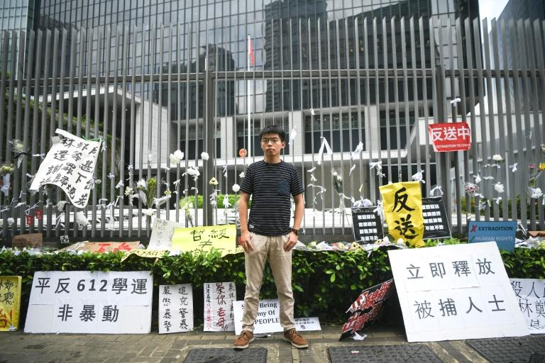 Joshua Wong, the Hong Kong activist soon to visit the United States, was the unlikely hero of the Umbrella Movement that inspired hundreds of thousands to take over Hong Kong's streets for two months in 2014 calling for free elections.  Five years later, the 22-year-old is one of the most prominent faces in the city's leaderless pro-democracy movement, often seen on rallies, locked up by police and individually called out by the Chinese government.  Scrawny, with gaunt features and a studious frown, Wong has now taken his fight around the globe, recently meeting with politicians in Taiwan, holding talks in Berlin with the German foreign minister, and has speaking engagements scheduled in the United States.
